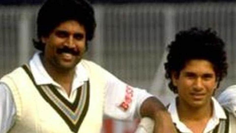 Kapil Dev and Sachin Tendulkar during their playing days.