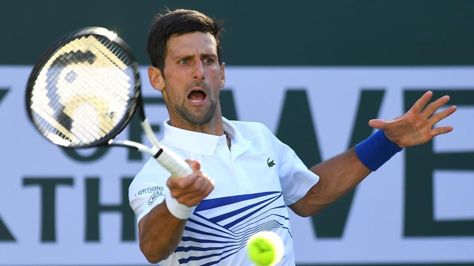 Novak Djokovic during his third round match against Philipp Kohlschreiber.