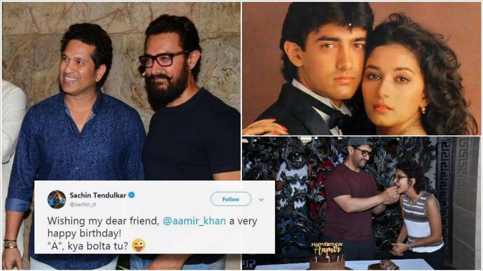 Aamir Khan got wishes from celebs on his birthday.