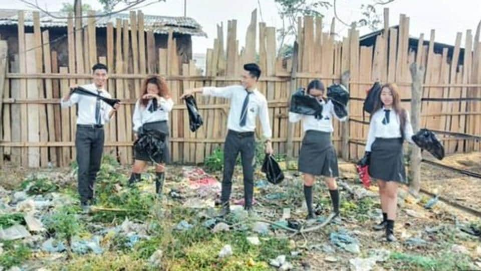 The challenge requires participants to clean up a public space and post before and after pictures of it on social media nominating others.