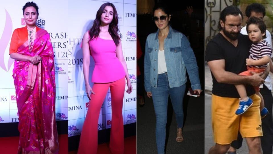 Rani Mukerji, Alia Bhatt, Katrina Kaif and Taimur were spotted in Mumbai on Thursday.