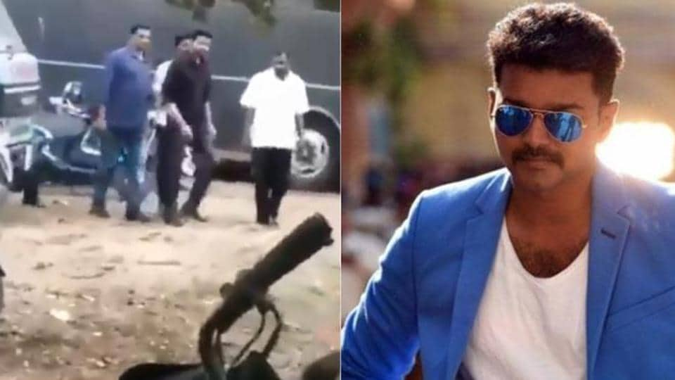 Vijay saved his fans from a falling fence when he visited a university in Chennai during the shoot of his film. Checkout the video