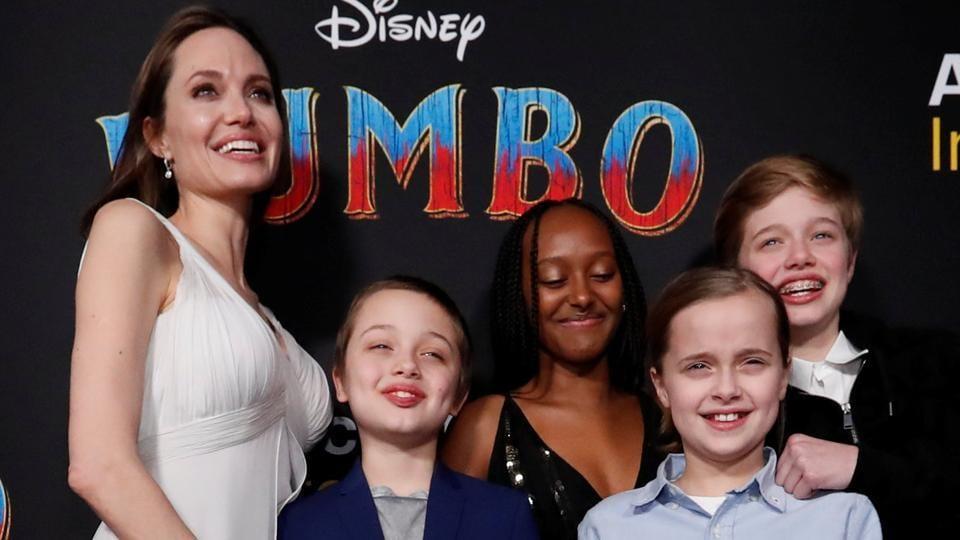 Angelina Jolie Brings Her Kids To Dumbo Premiere Daughter