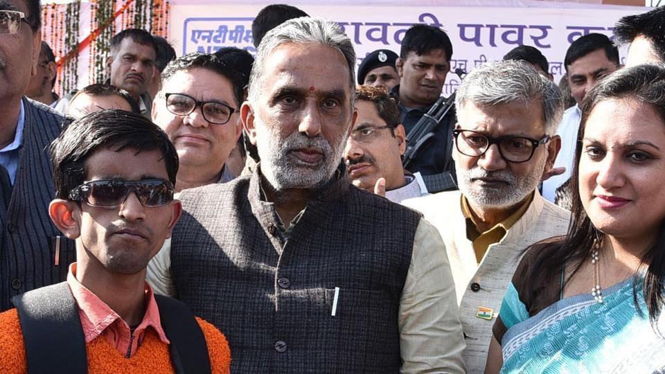 Union Minister of State for Social Justice and Empowerment Krishan Pal Gurjar at an event.
