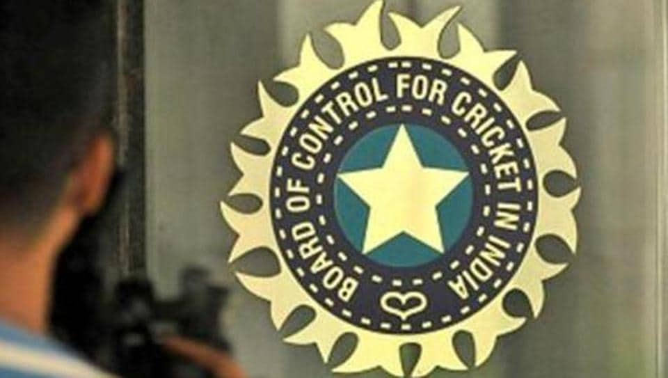 A view of logo of the Board of Control for Cricket in India (BCCI)