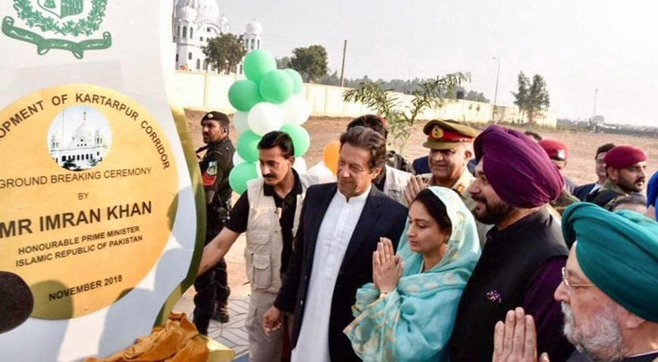 The groundbreaking ceremony in Pakistan on November 28, 2018, was attended by Union ministers Harsimrat Kaur Badal and Hardeep Singh and Punjab minister Navjot Singh Sindhu.