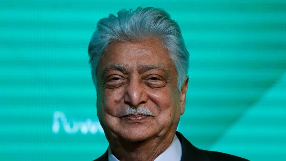 The shares held by entities controlled by Premji have been irrevocably renounced and earmarked to the Azim Premji Foundation.