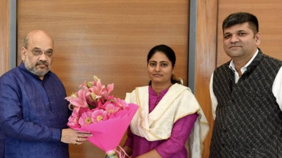 BJPchief Amit Shah announced on Friday that Apna Dal leader and sitting MPAnupriya Patel will contest from her Mirzapur seat.