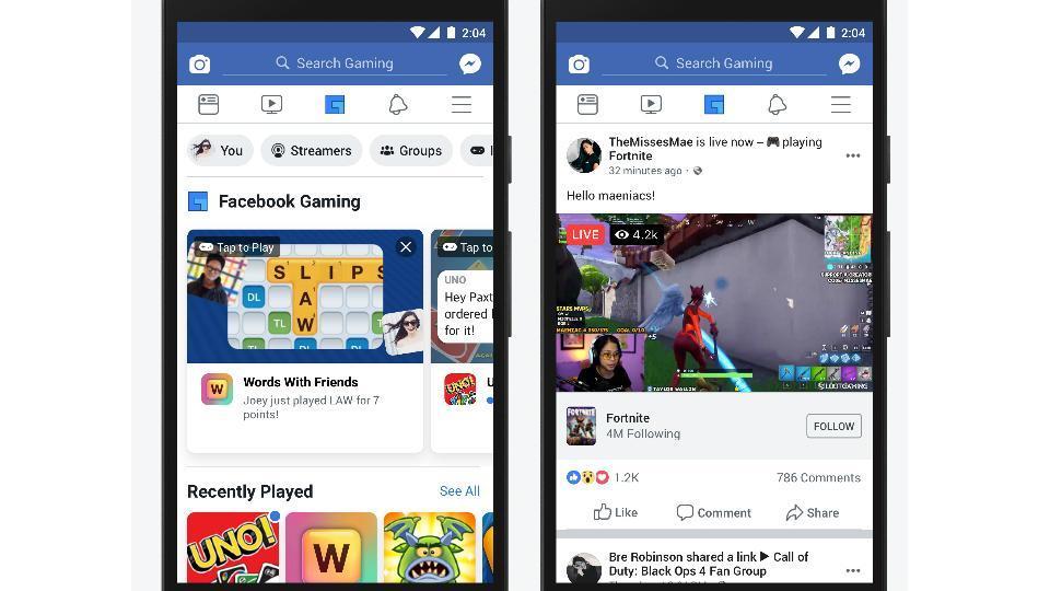 facebook,facebook gaming tab,facebook dedicated gaming tab