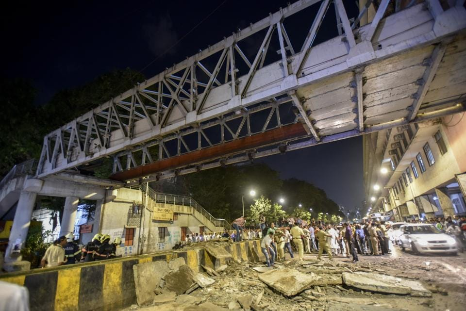 On July 3, 2018 a pedestrian pathway of Gokhale bridge had collapsed on the railway tracks at Andheri railway station. Two people had lost their lives and five were injured in the incident.