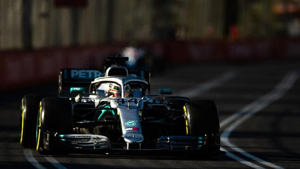 Mercedes' British driver Lewis Hamilton drives during the second Formula One practice session in Melbourne on March 15, 2019