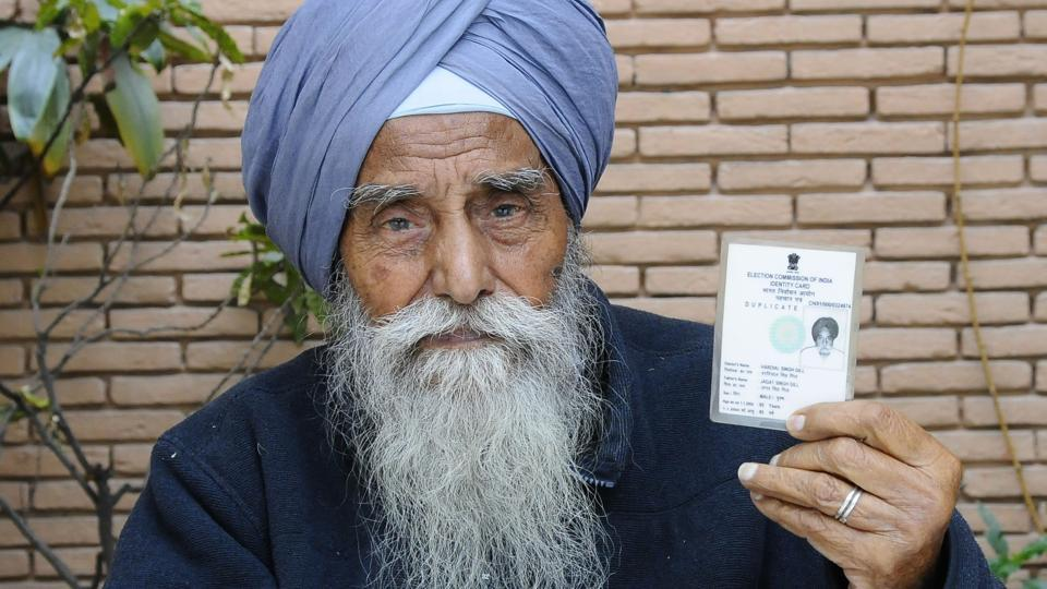 Chandigarh resident Hardyal Singh is listed as a 100-year-old in the election department's electoral rolls, he insists he's only 96 and has been a consistent voter.