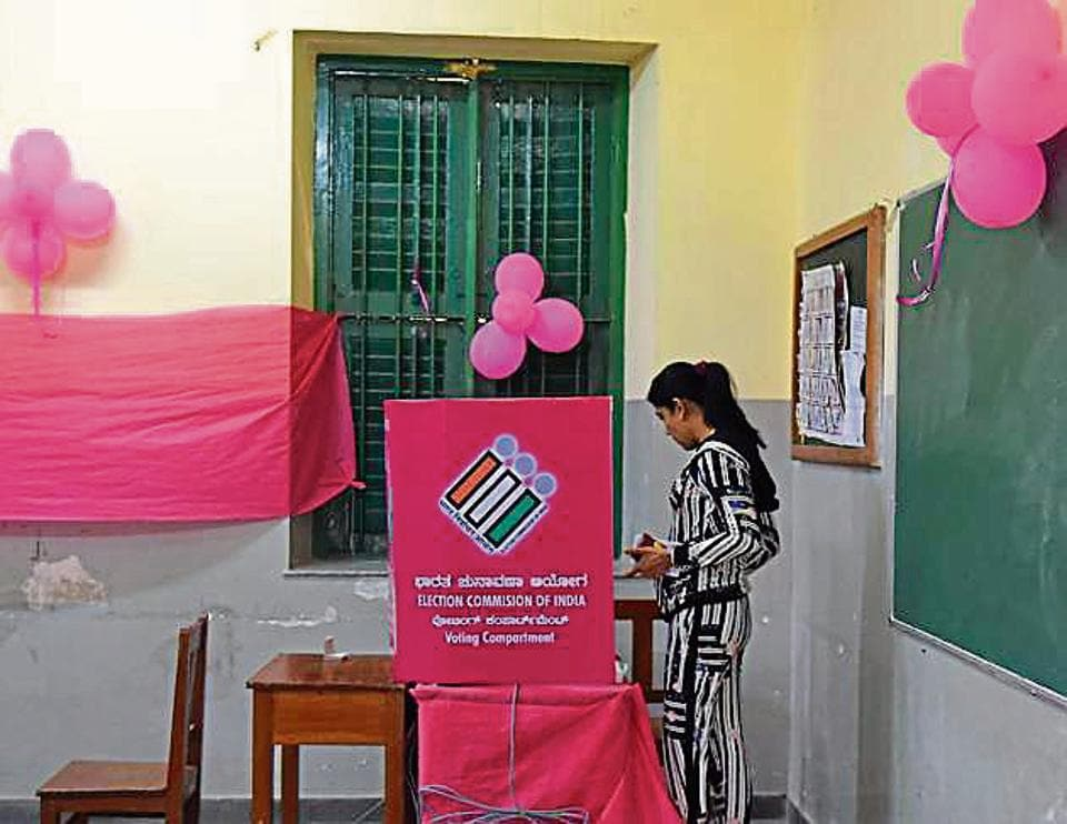 The idea behind creating pink polling booths was to send out the message of women empowerment