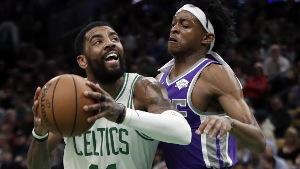 Kyrie Irving gets 2nd career triple-double as Celtics overcome Kings