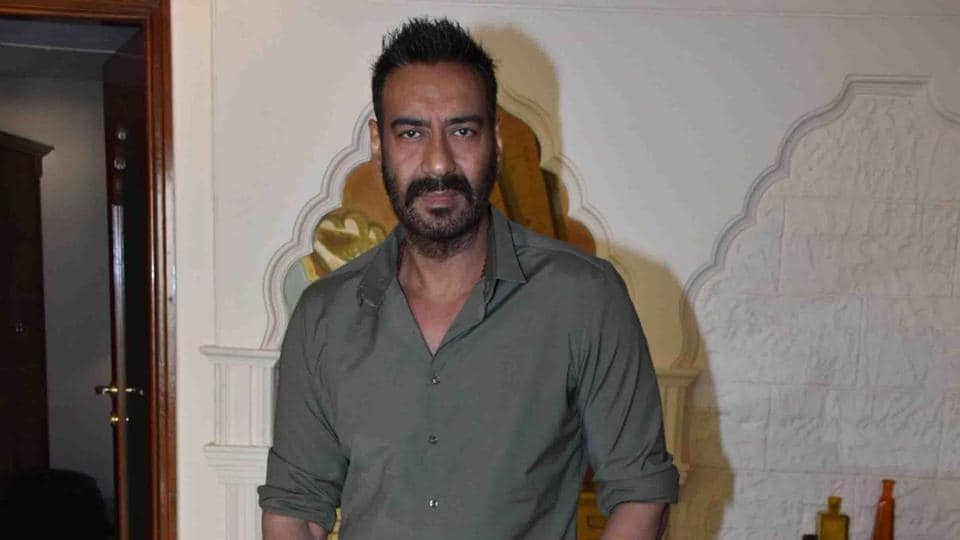 Ajay Devgn during a press conference regarding his upcoming film Total Dhamaal in Mumbai on February 14, 2019.