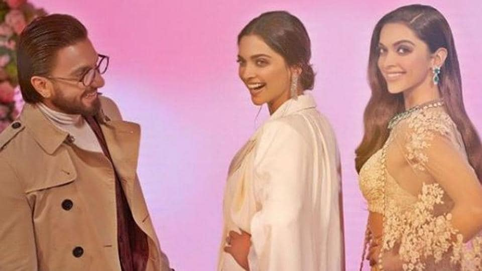 Ranveer Singh and Deepika Padukone where in London for the inauguration of her wax statue at Madame Tussauds museum.