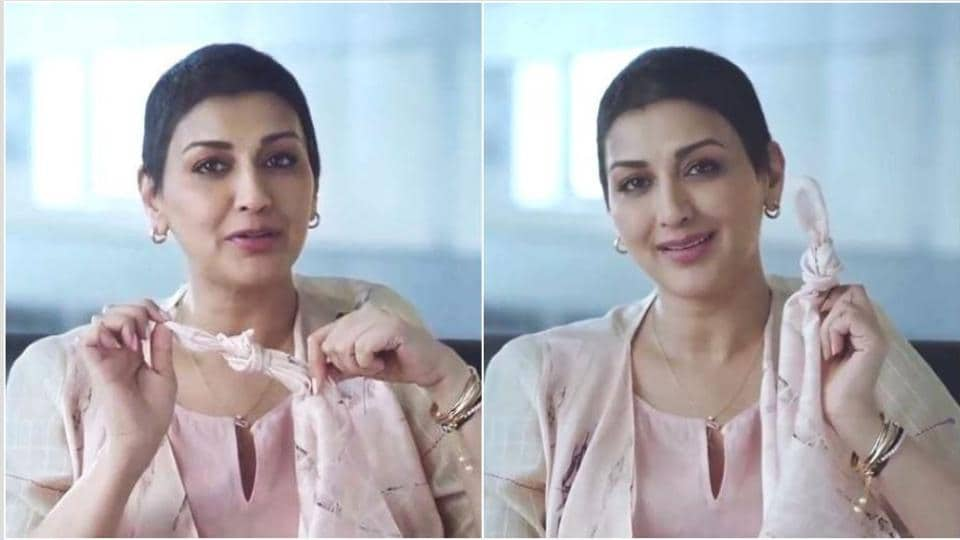Sonali Bendre in the advertisement.