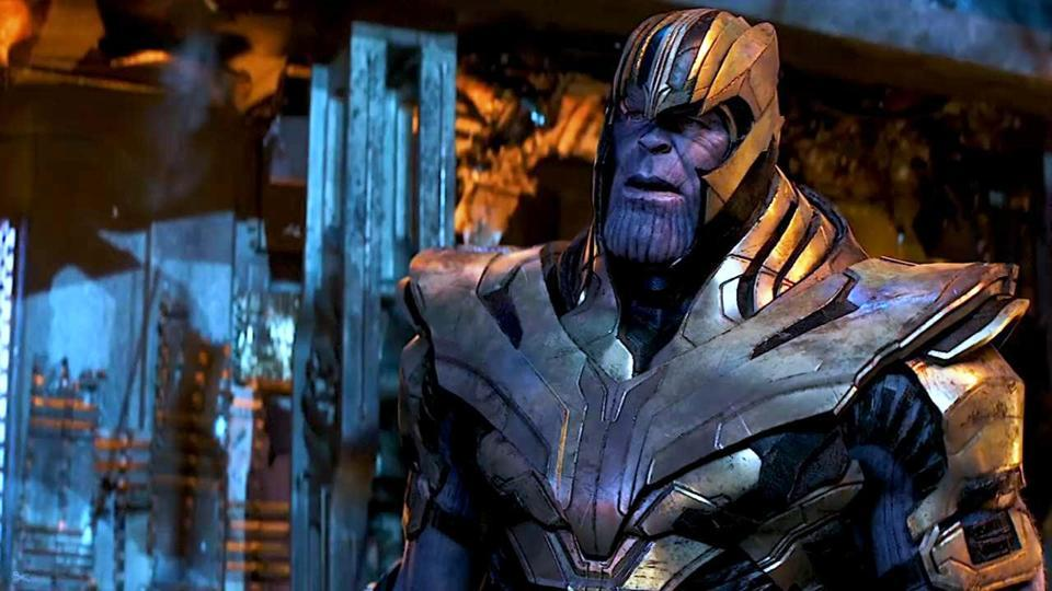 Thanos in a still from Infinity War, wearing his armour.