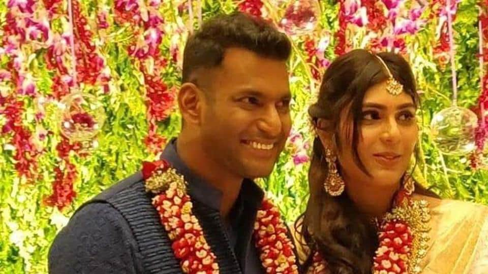 Vishal and Anisha Alla Reddy are now engage.