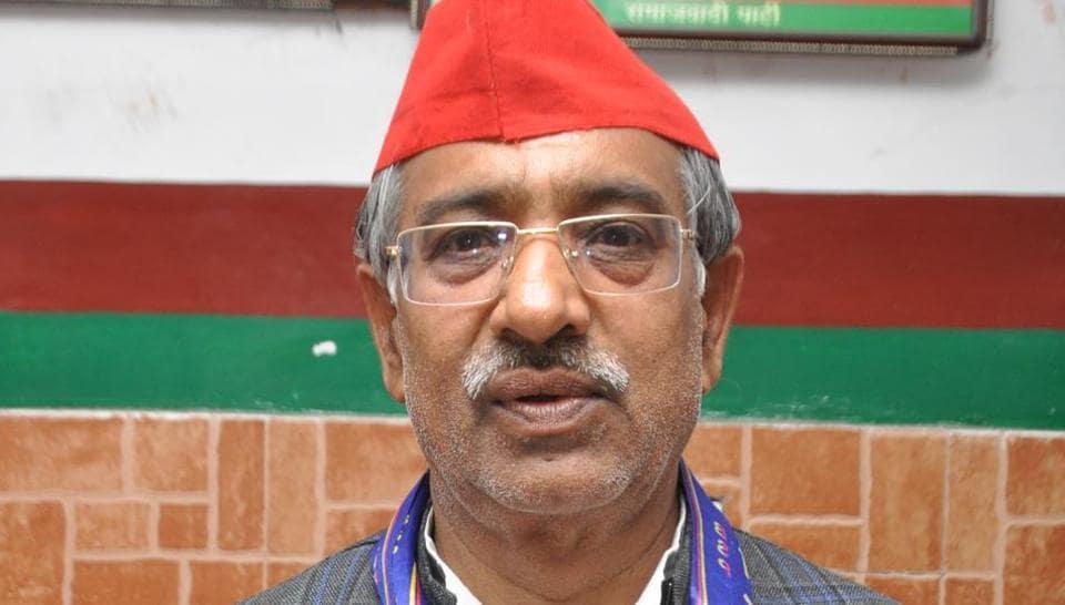 The Samajwadi Party-Bahujan Samaj Party-Rashtriya Lok Dal have fielded SP candidate Surendra Kumar Munni for the upcoming general elections, at Raj Nagar, in Ghaziabad, India
