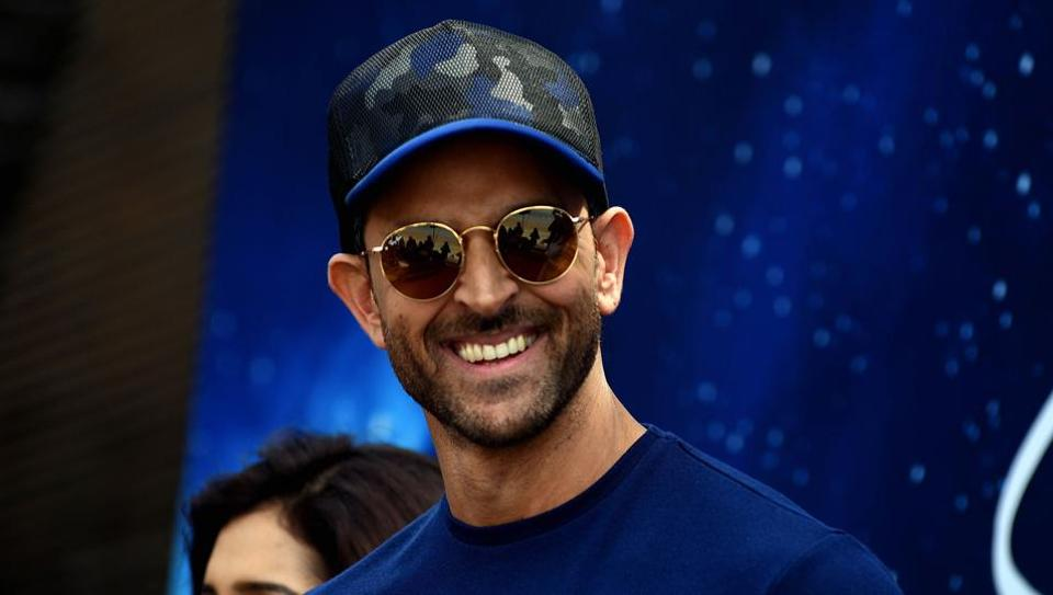 Hrithik Roshan takes part in a blessing event for the start of the upcoming film Smile Please in Mumbai on March 1, 2019.