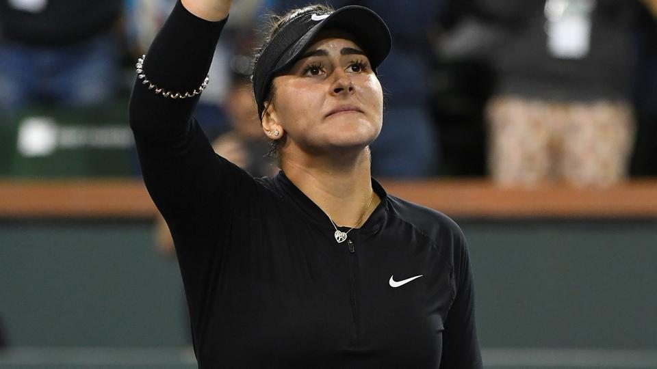 Andreescu shocks Svitolina to reach Indian Wells final