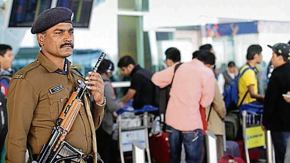 To check the movement of illegal cash to Delhi during the Lok Sabha polls, the Central Industrial Security Force (CISF) has set up a baggage screening point at Indira Gandhi International airport's domestic arrival terminal.