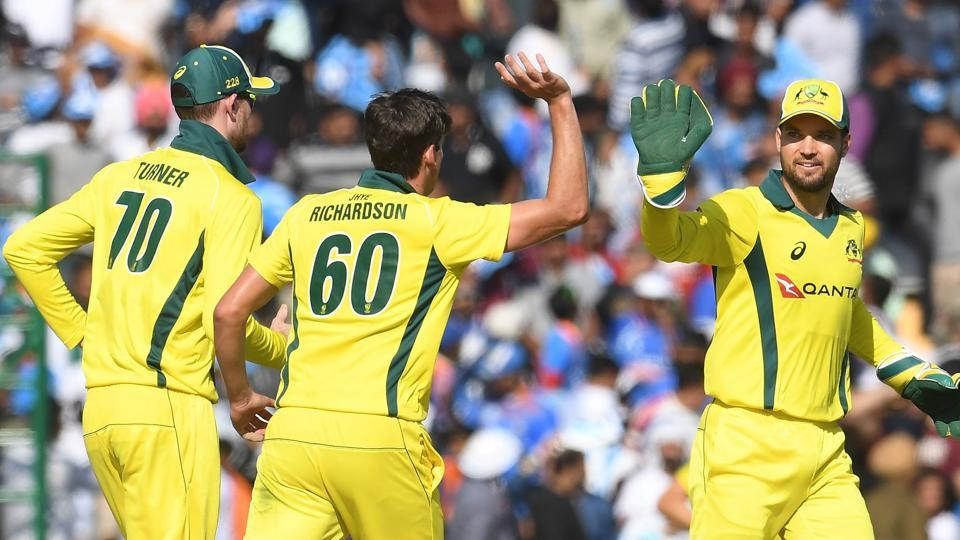 Australia in action against India on their recent tour.