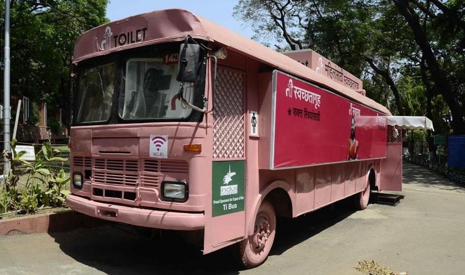 Ti Swachatagruha, the retired Pune Mahanagar Parivahan Mahamandal Ltd (PMPML) buses turned lavatory, is one of the popular public lavatories for women.