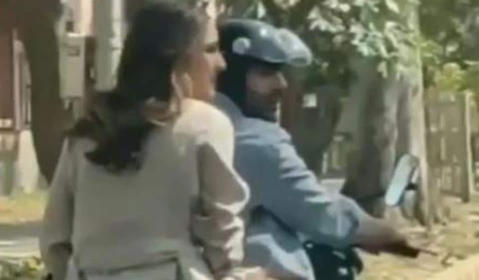 Sara Ali Khan and Kartik Aaryan were spotted riding a bike in Delhi. Sara has now been trolled for not wearing a helmet.