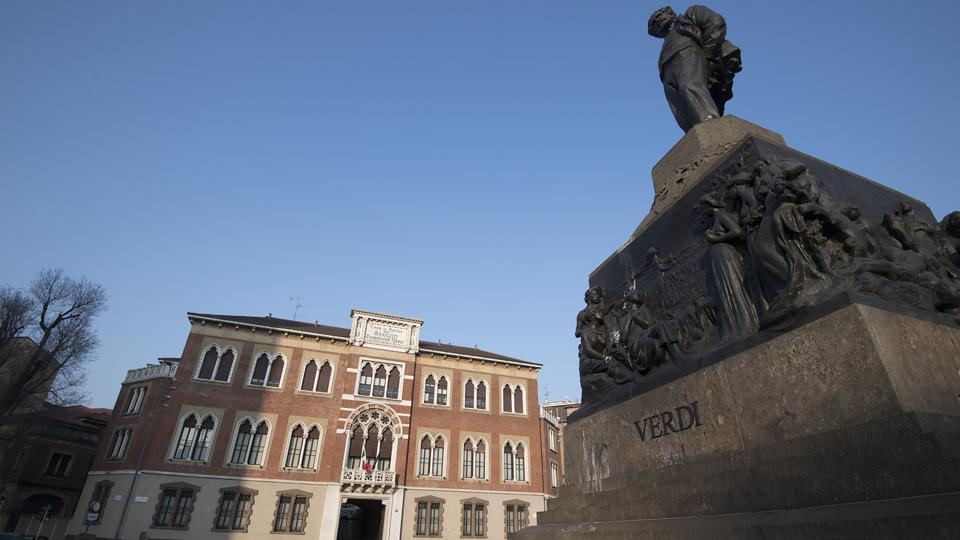 "According to his own wishes, Casa Verdi only opened in 1902, a year after the composer died aged 87. Almost 120 years later, the home is run by the Giuseppe Verdi Foundation and has neither debts nor public funding, which is ""a real miracle"", said the home's president Roberto Ruozi. Residents make a monthly contribution based on their means. (AFP)"