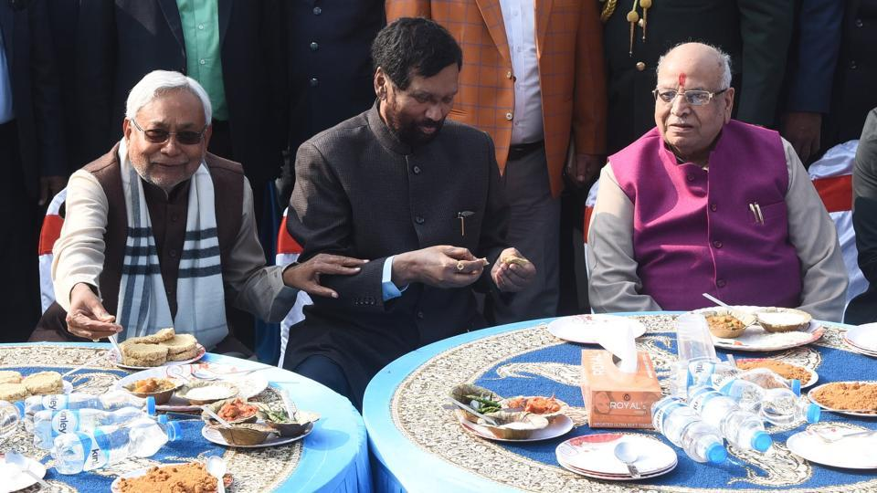 The Lok Janshakti Party (LJP), founded by Ram Vilas Paswan, faces an uphill task of reasserting its political standing in the Lok Sabha elections, after the party chief has virtually passed on the baton to his son Chirag Paswan..(Photo by Santosh Kumar/Hindustan Times)