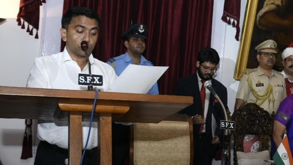 Bharatiya Janata Party (BJP) leader Pramod Sawant was sworn in as the chief minister of Goa past midnight on Monday