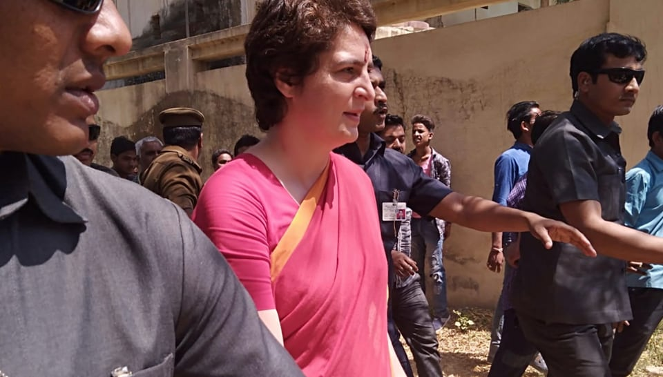 Priyanka Gandhi met party leaders in Uttar Pradesh's Bhadohi, where she told the party workers to work hard on the ground going into the Lok Sabha election.