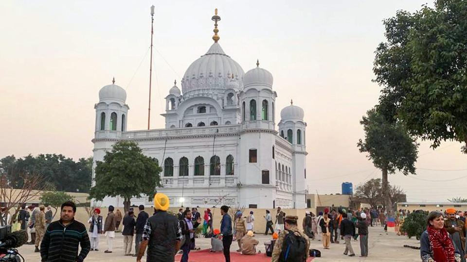 A view of the shrine of Sikh leader Guru Nanak Dev in Kartarpur, Pakistan on November 28.