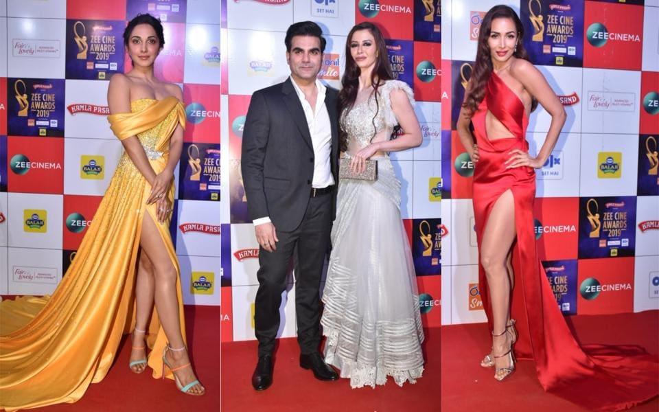 Zee Cine Awards: Malaika Arora sizzles in red, Arbaaz Khan walks in with girlfriend Giorgia. See pics