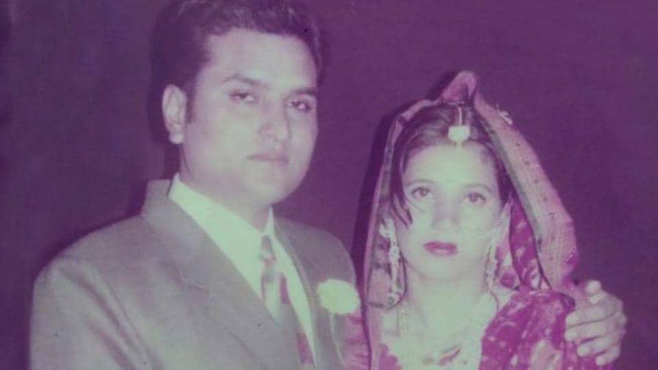 File photo of deceased ASI Gurbash Singh and his wife Vandna.