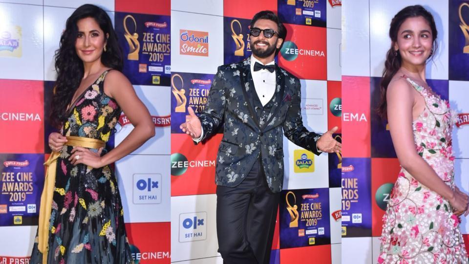 Katrina Kaif, Ranveer Singh, Janhvi Kapoor and Alia Bhatt rock florals on Zee Cine Awards 2019 red carpet. See latest pics