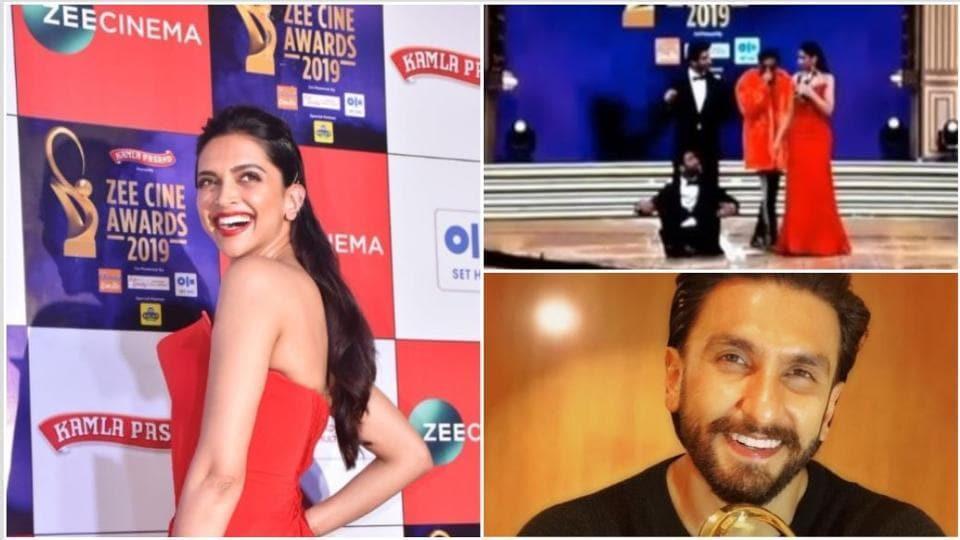 Deepika Padukone,Ranveer Singh,Zee Cine Awards