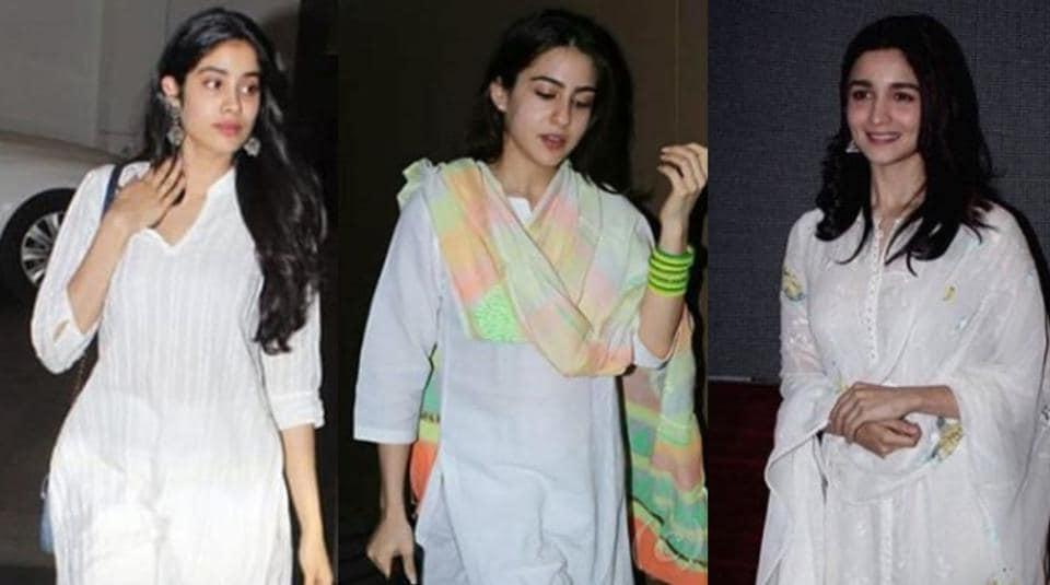Holi 2019 fashion tips:Sara Ali Khan, Janhvi Kapoor and Alia Bhatt show how to dress-up for Holi parties. Get the look