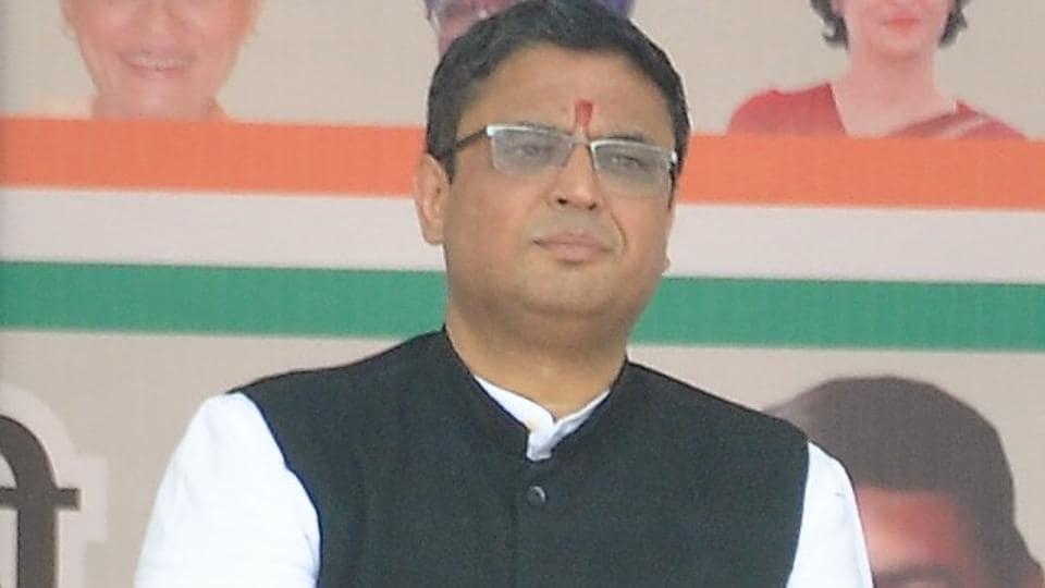 Manish Khanduri, son of senior BJP leader BCKhanduri, joined Congress on March 16, 2019.