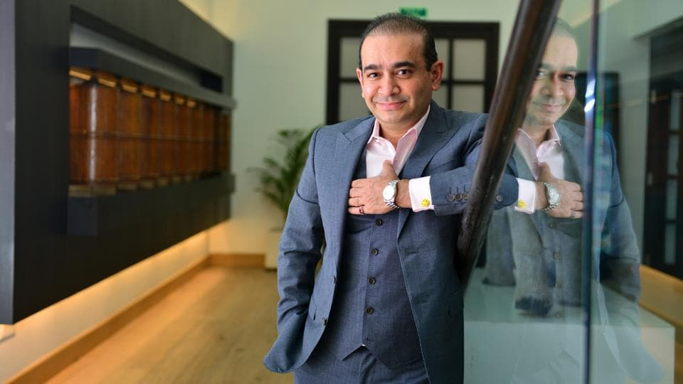 Fugitive Indian diamantaire Nirav Modi was arrested in London on India's extradition request. He will be produced in a London court later today. Yesterday, a court in the UK issued a warrant to arrest Modi, days after British home secretary Sajid Javid certified India's request to extradite him to face charges of financial irregularities in the Rs 13,500-crore Punjab National Bank (PNB) fraud case. (Aniruddha Chowdhury / Mint Archive)