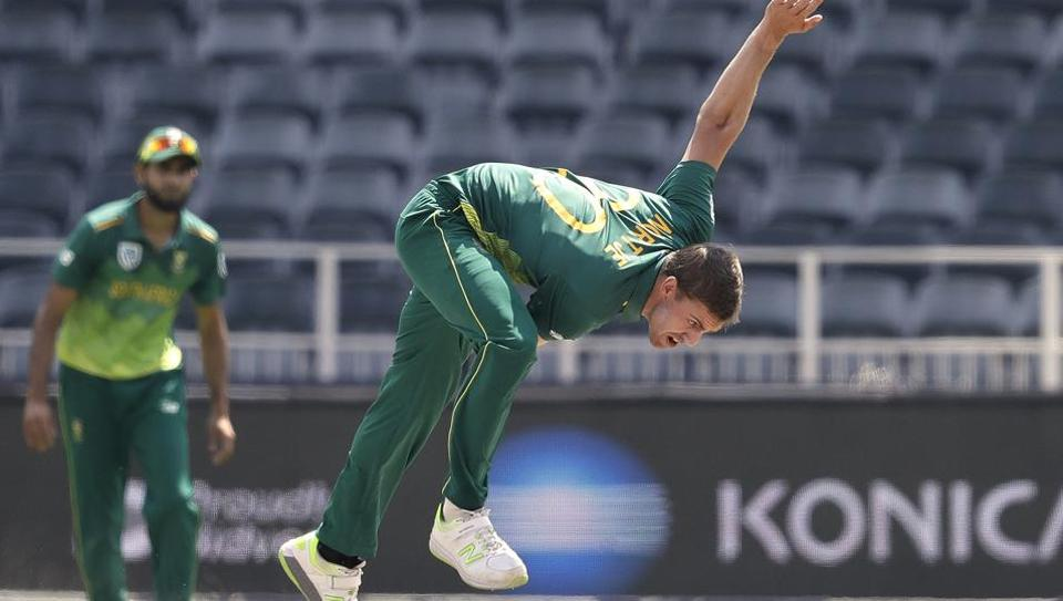 South Africa's bowler Anrich Nortje