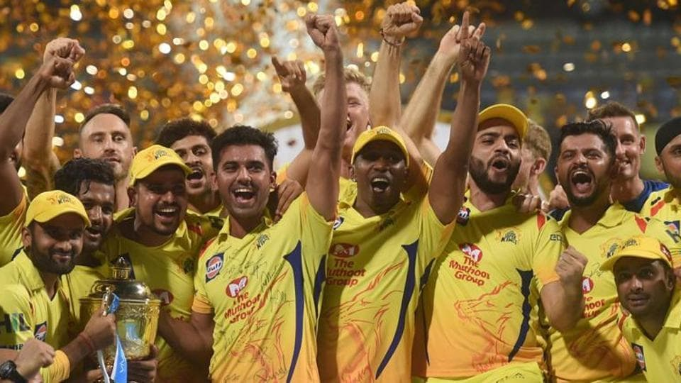 File image of CSK players celebrating after winning IPL 2018 final.