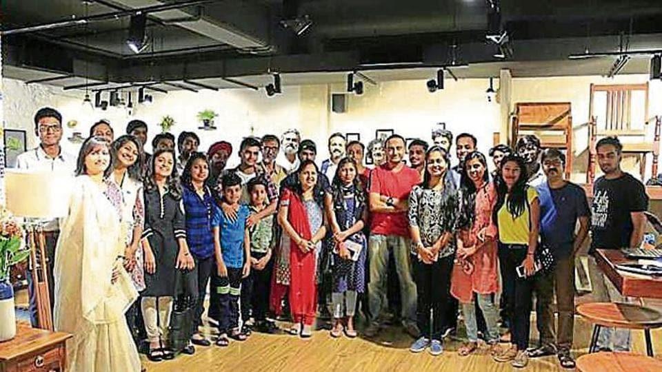 A meet of Poetry Darbaar, the largest poetry group in Gurugram.