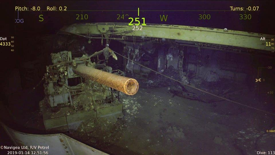 World War II aircraft carrier discovered beneath surface of