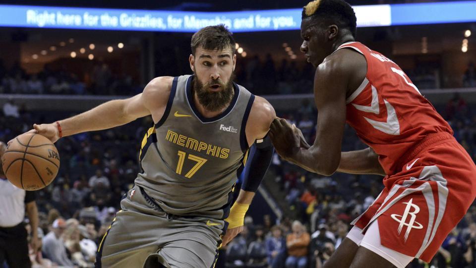 d1d036b60fbf NBA roundup  Grizzlies top Rockets in overtime despite Harden s 57 ...