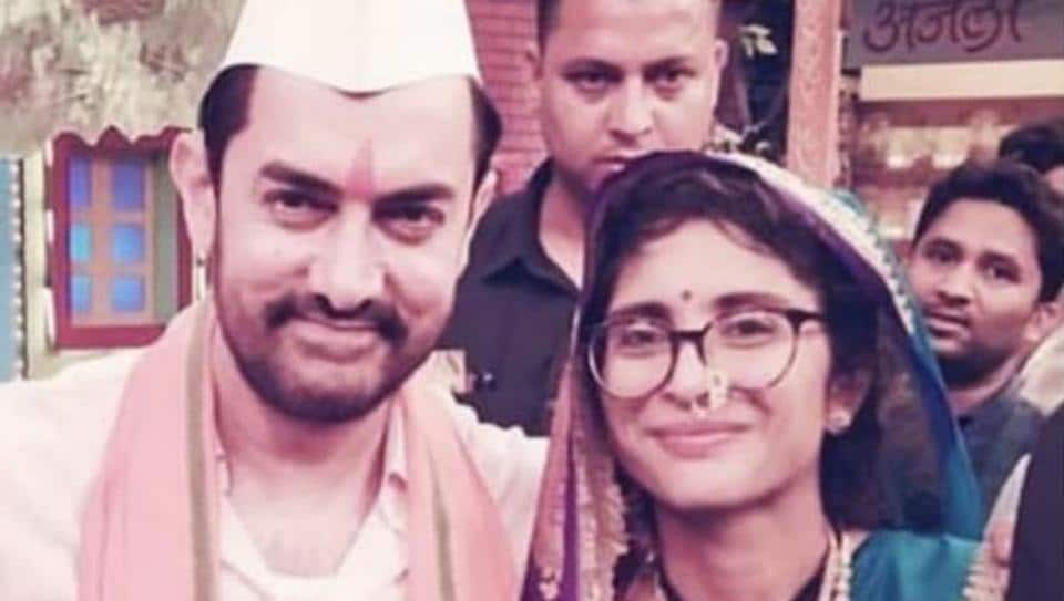 Aamir Khan shared a new picture with wife Kiran Rao on his Twitter handle.