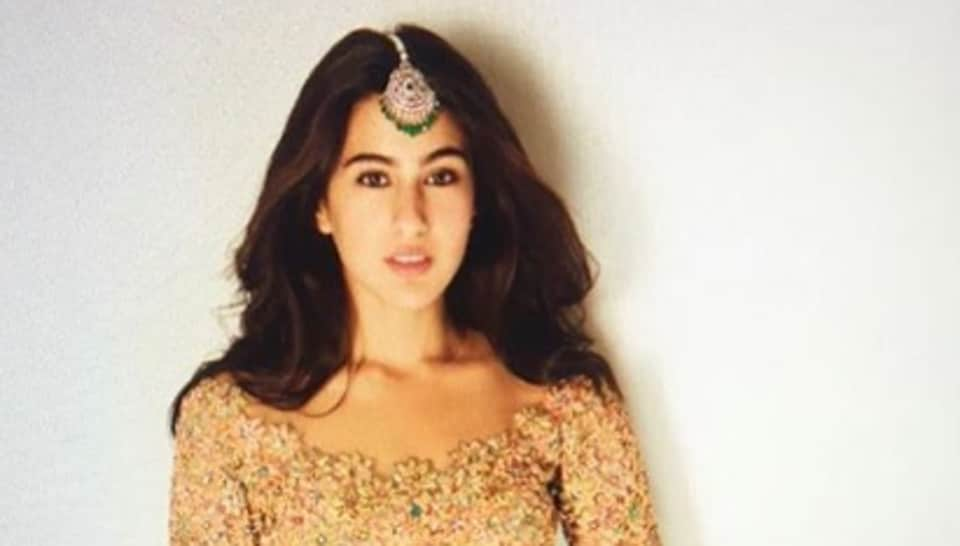 Sara Ali Khan shows how to carry a gold lehenga with colourful yet minimal accessories. See latest pics