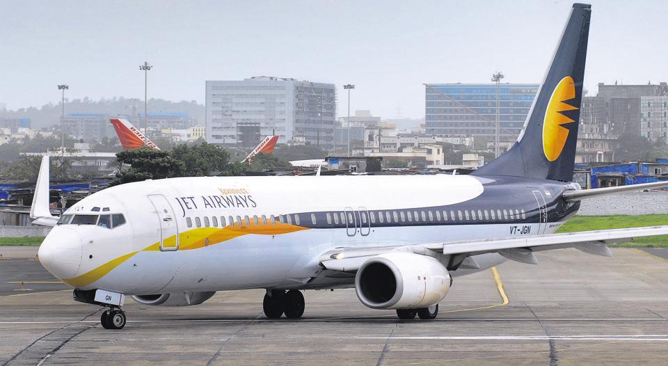 Jet Airways planes at Mumbai International Airport in Mumbai.
